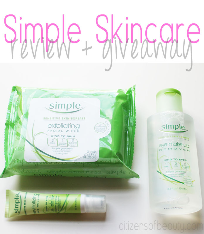 Simple Skincare Review and giveaway