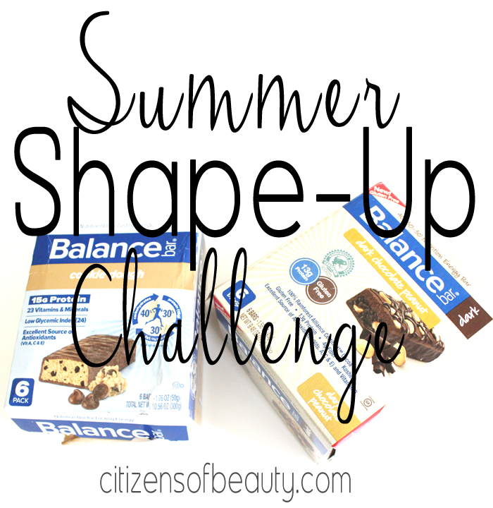 Summer Shape Up Challenge Balance Bar Shape Up Challenge + Giveaway!