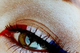 4th of July eye-makeup design