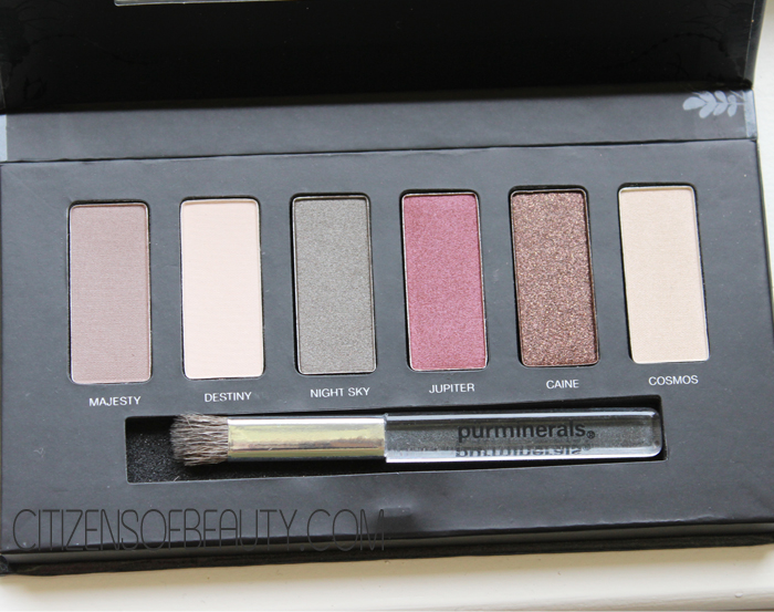 purminerals Galaxy Ascending Eyeshadow Palette Review  Pur Minerals Jupiter Palette Review