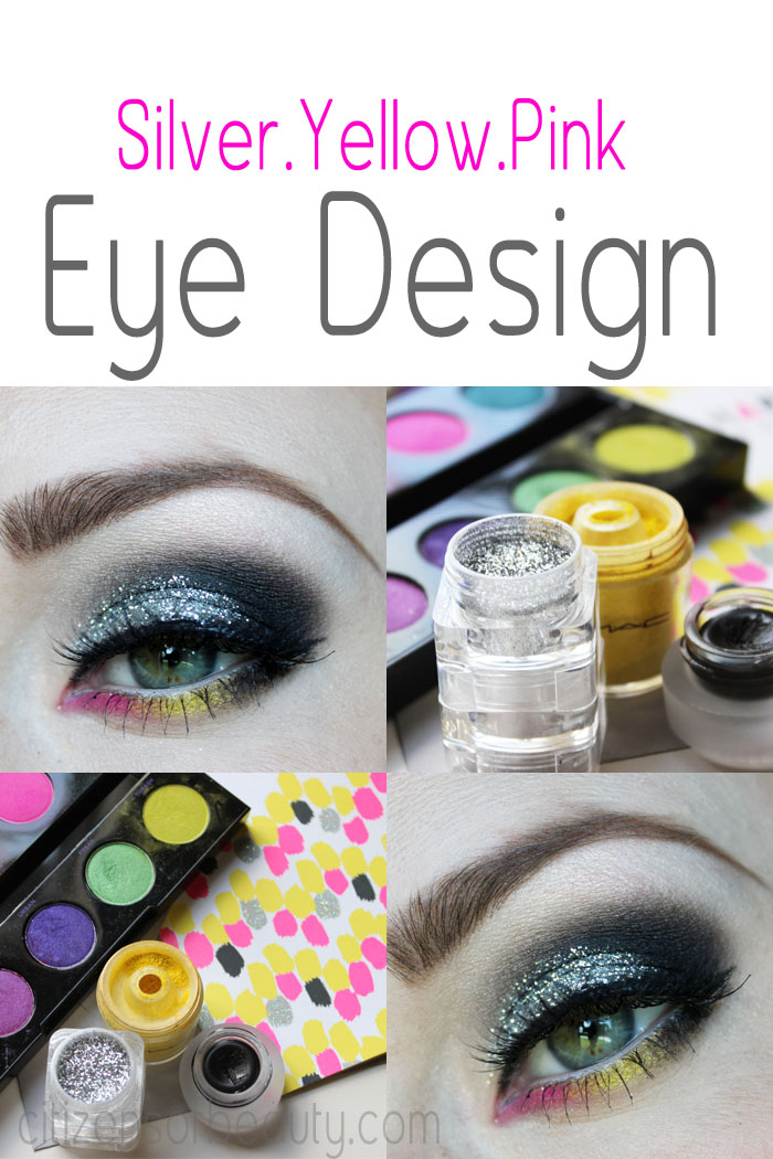 silver-yellow-pink eyeshadow design