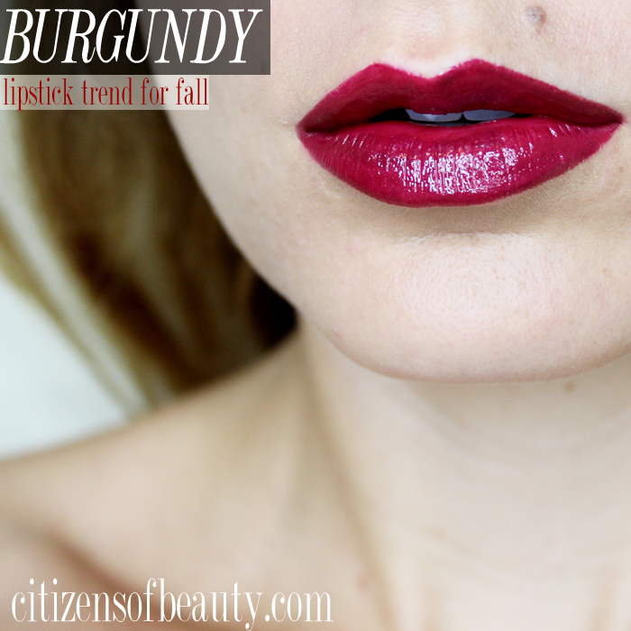 Burgundy lipstick for fall 2014