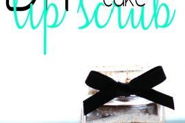DIY Chocolate Cake Lip Scrub via @citizenofbeauty