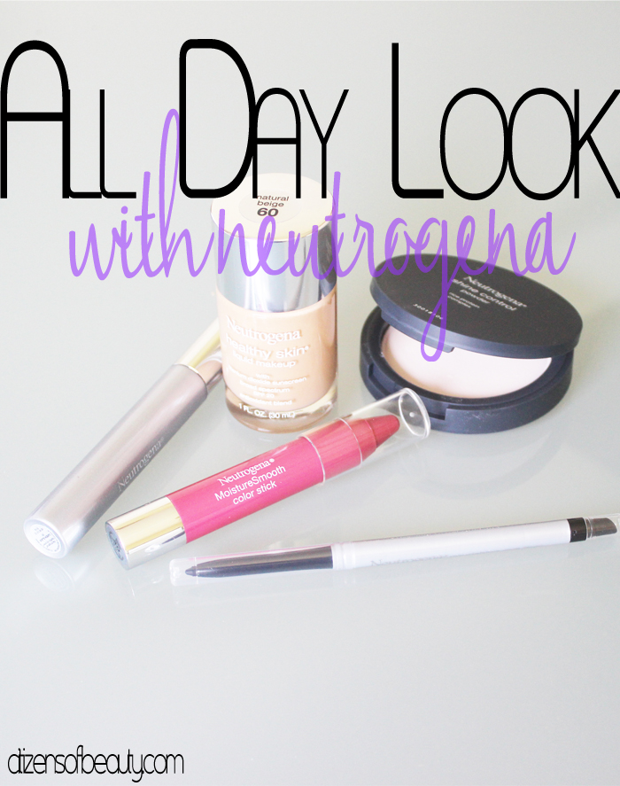 All day makeup look using Neutrogena!
