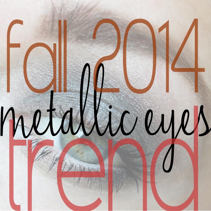 fall 2014 metallic makeup trend