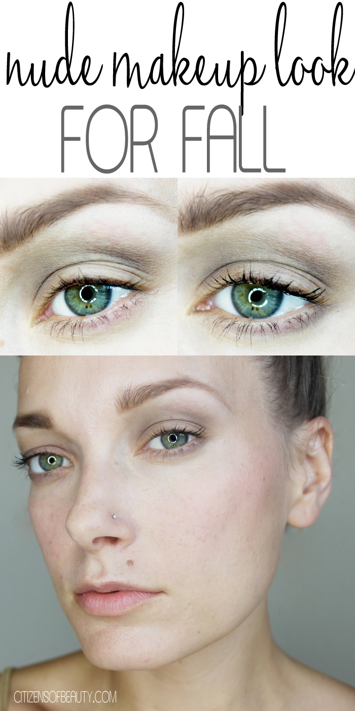 nude makeup look for fall