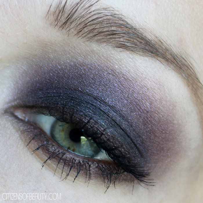 purple eye design using merle norman cosmetics