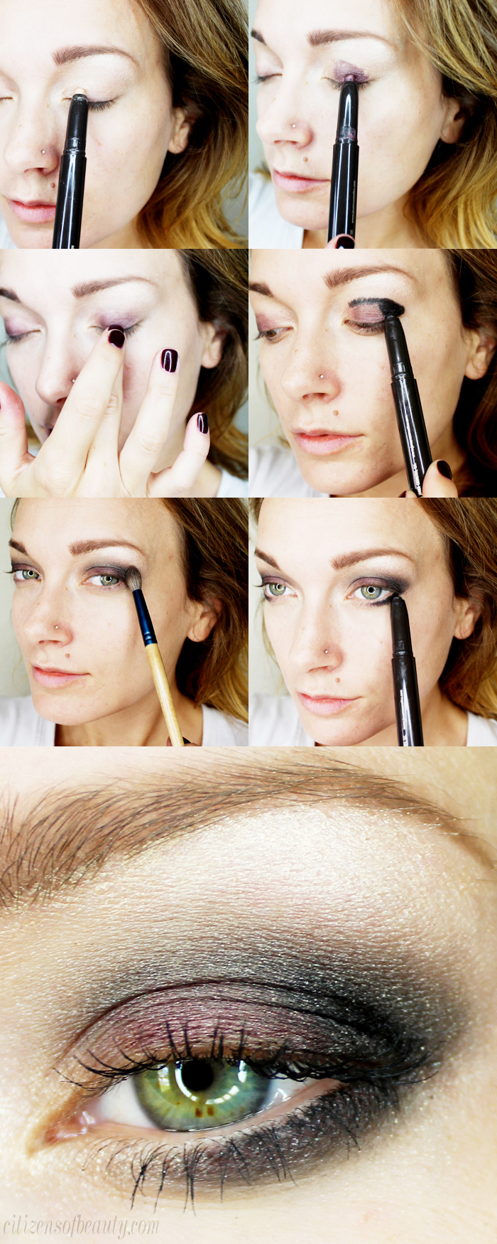 easy 5 minute smokey eye design using the eye shadow crayons from jouer cosmetics
