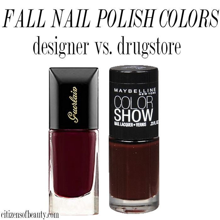 The best designer and drugstore fall nail polish colors for 2014