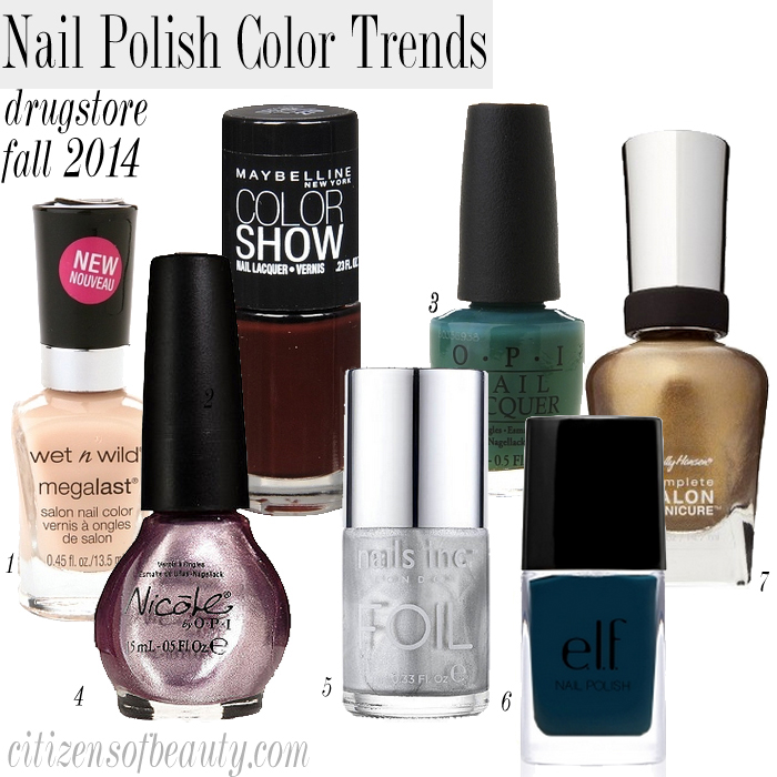 fall 2014 drugstore nail polish colors