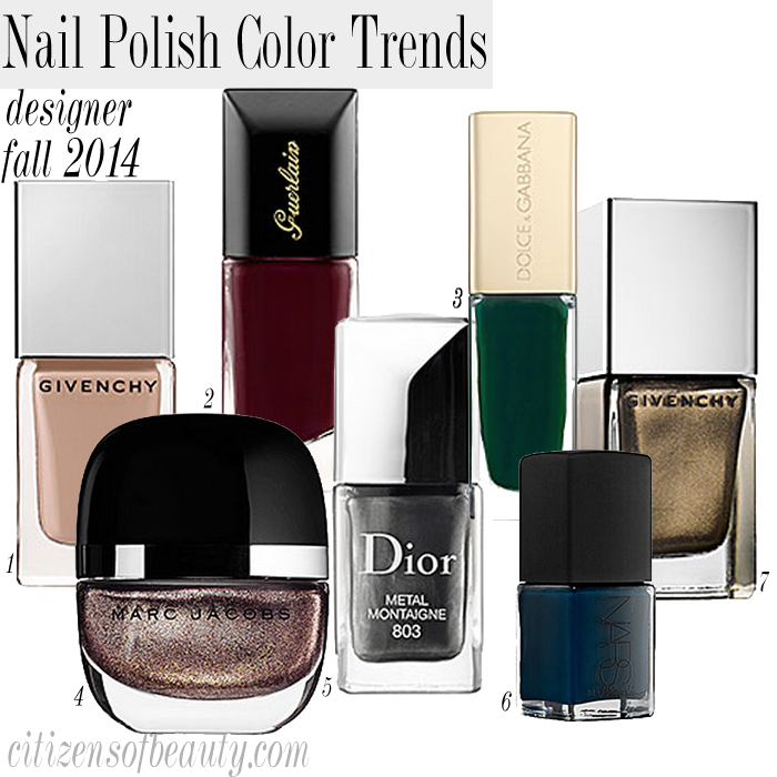 Designer polish nail polish colors for fall 2014