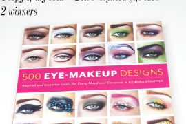 500 eye makeup designs giveaway with a sephora giftcard for two winners!