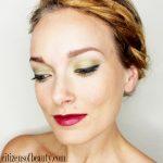 The Look: Smokey Green Eyeshadow and Berry Lips