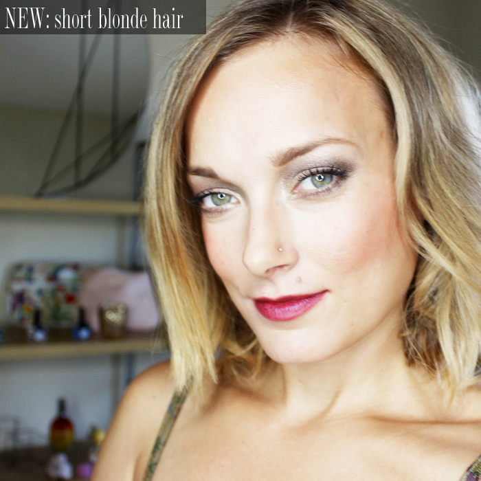 Transitioning from long hair to short blonde hair
