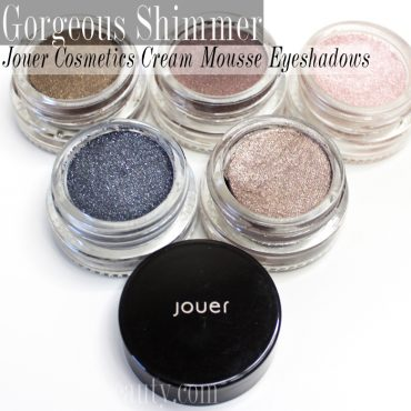review of Jouer Cosmetics, longwear cream mousse eyeshadows