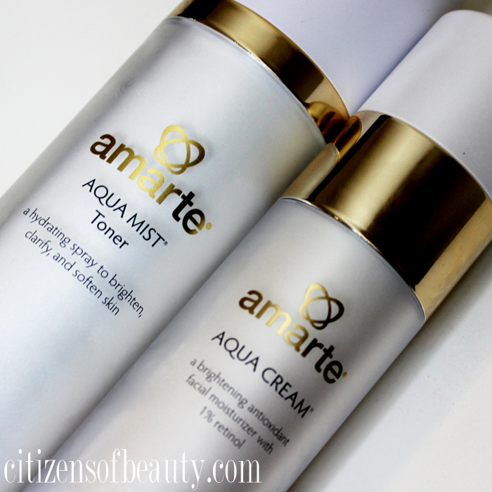 review of amarte skincare toner and aqua cream