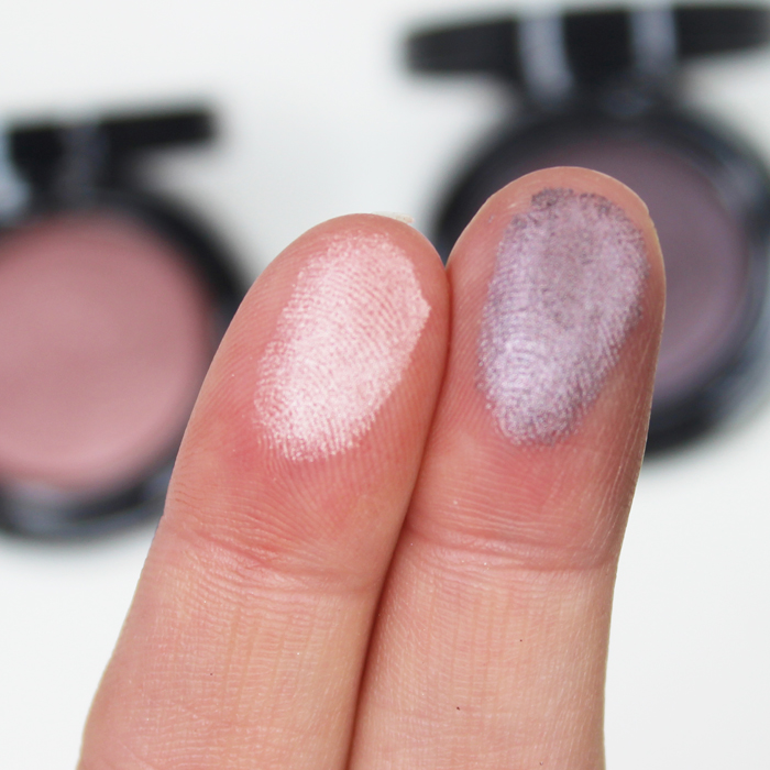 swatches of jane cosmetics shimmer eyeshadow