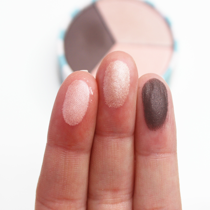 jane. shimmering suede shadow swatches