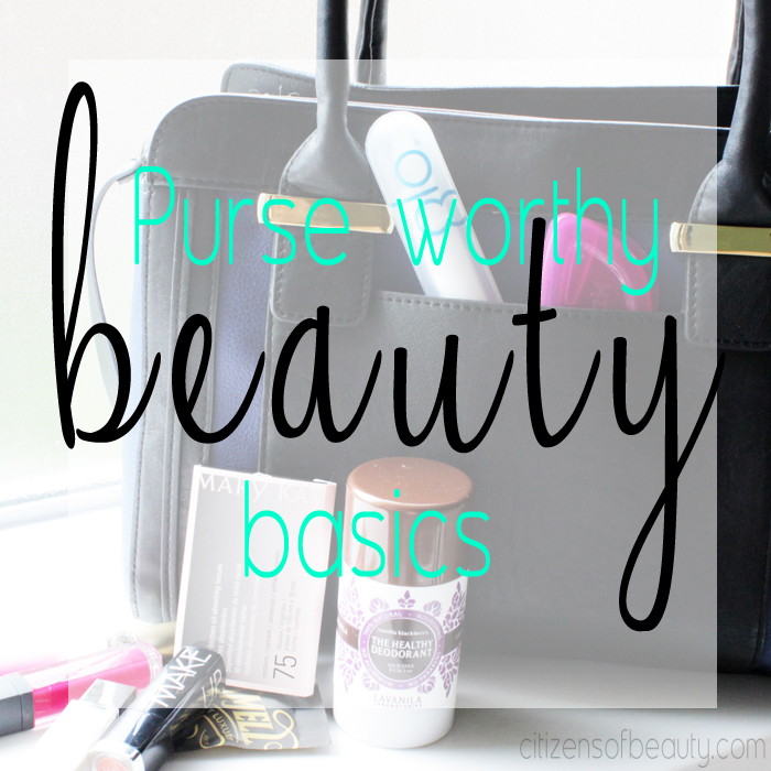 what beauty essentials should be in your purse