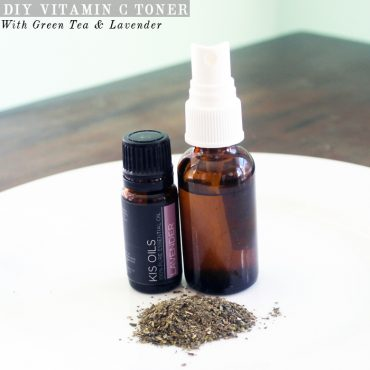 Recipe for DIY Vitamin C Toner with Green Tea and Lavender with beauty and lifestyle blogger, Kendra Stanton
