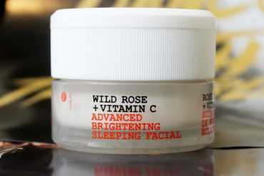 review of the Korres Wild Rose + Vitamin C Advanced Brightening Sleeping Facial