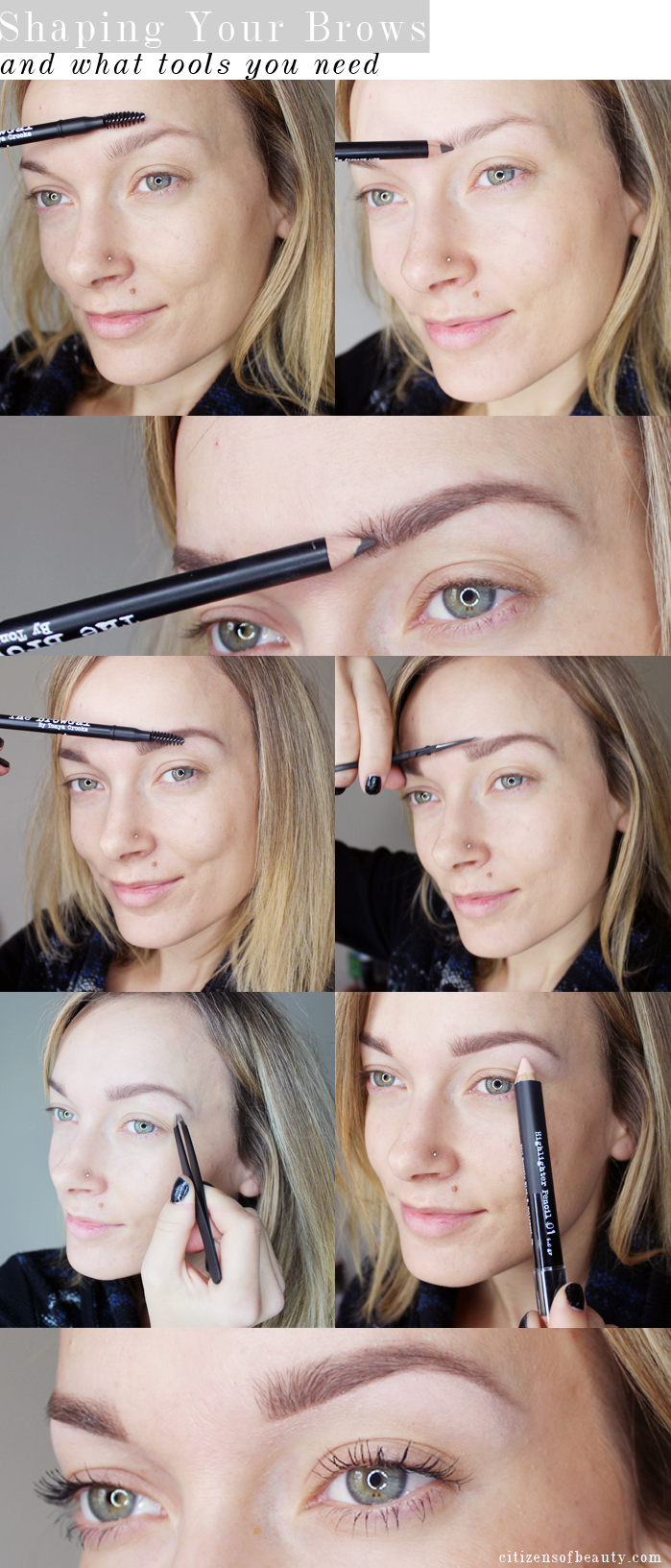 How To Shape Your Eyebrows And What Tools You Need Citizens Of Beauty