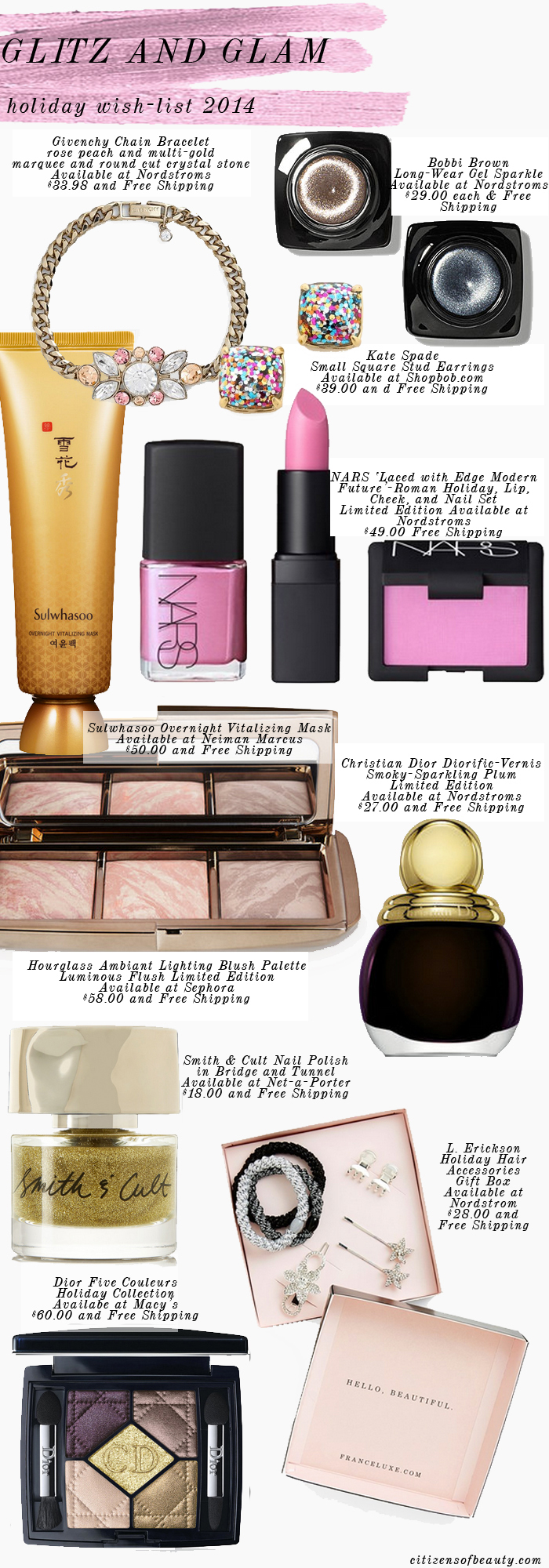 glam holiday wish list for ladies