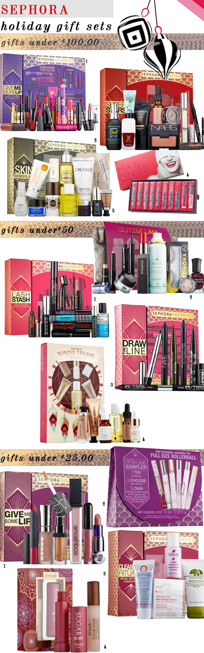sephora holiday gifts sets that are exclusive
