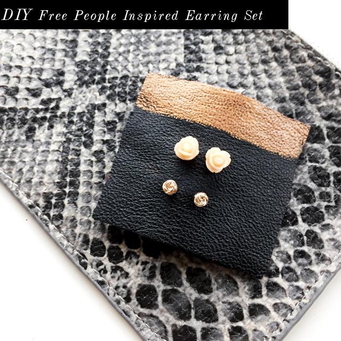 DIY Free People earring set