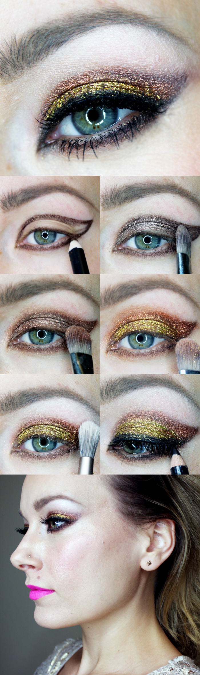 holiday makeup look sparkle
