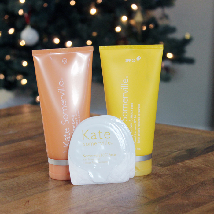 tanning holiday set with Kate Somerville