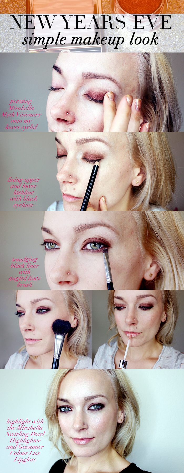 Mirabella New Years Eve Makeup Look