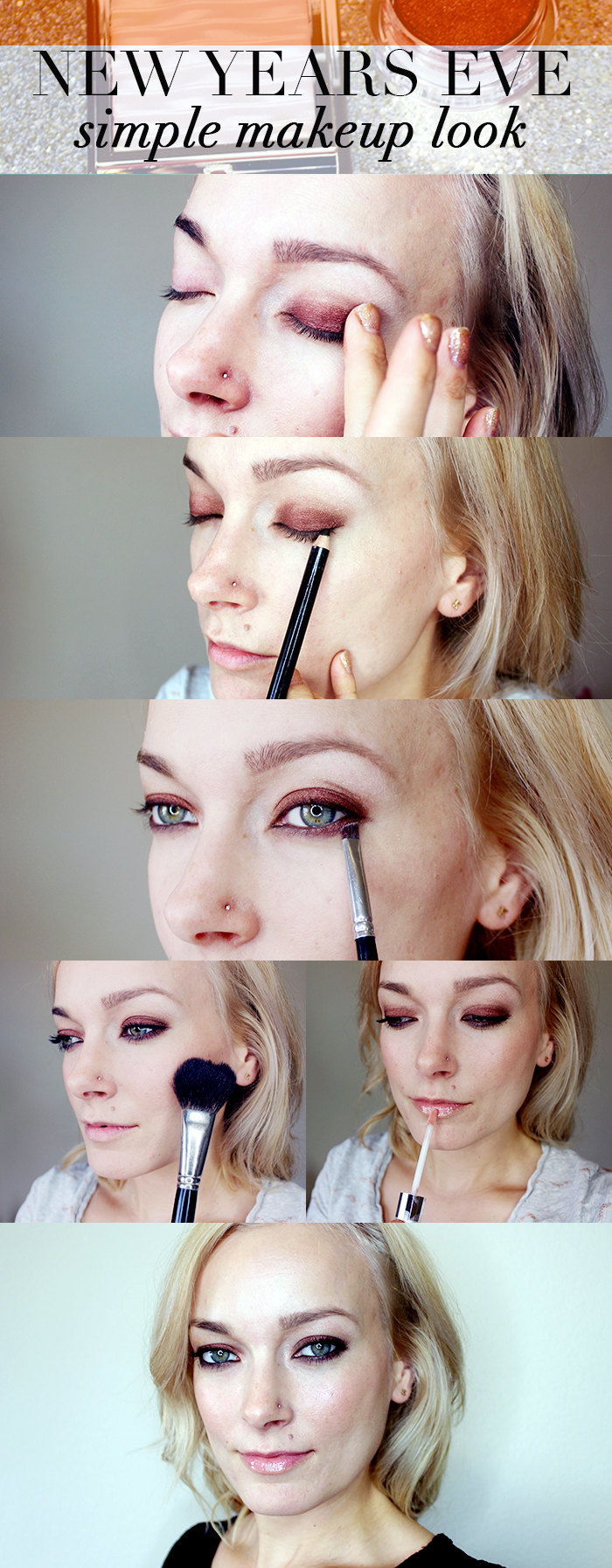 5 minute new years eve makeup look with mirabella beauty. Black Bedroom Furniture Sets. Home Design Ideas