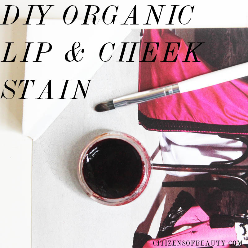 DIY lip and cheek stain