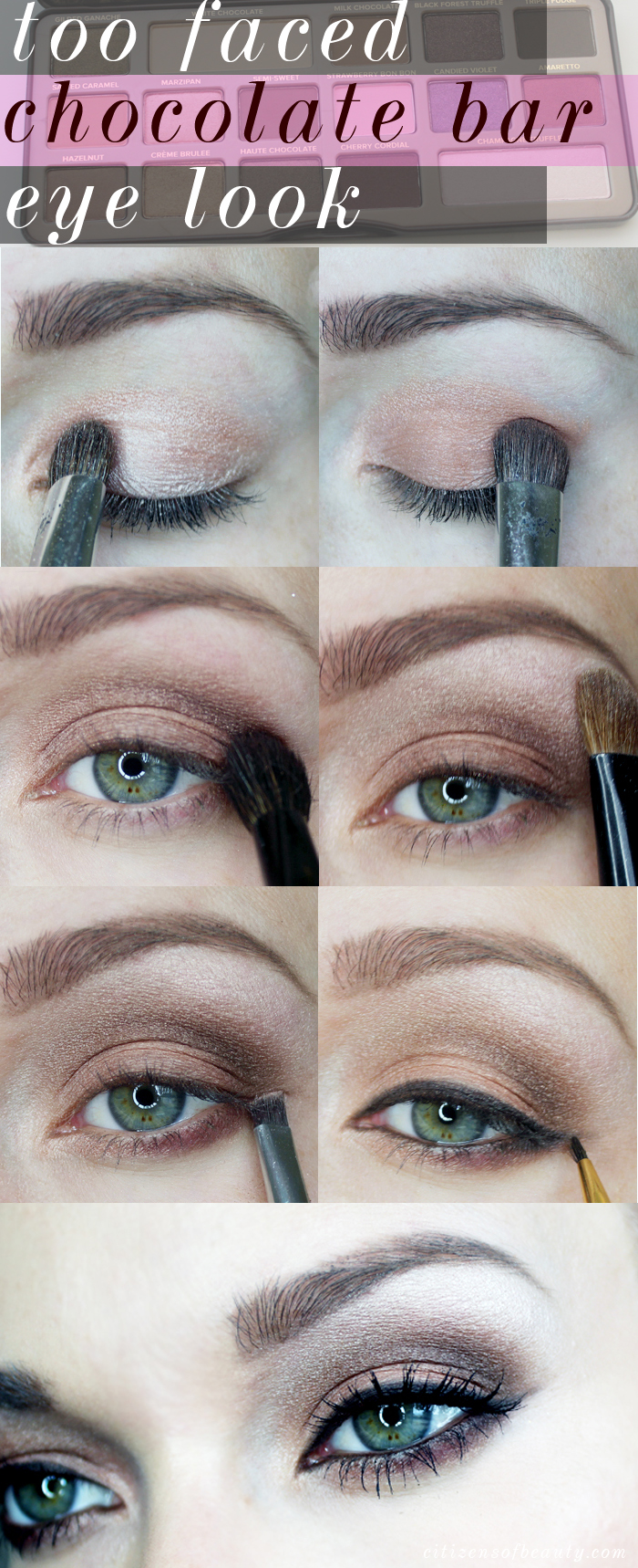 how to use the too faced chocolate bar eyeshadow palette