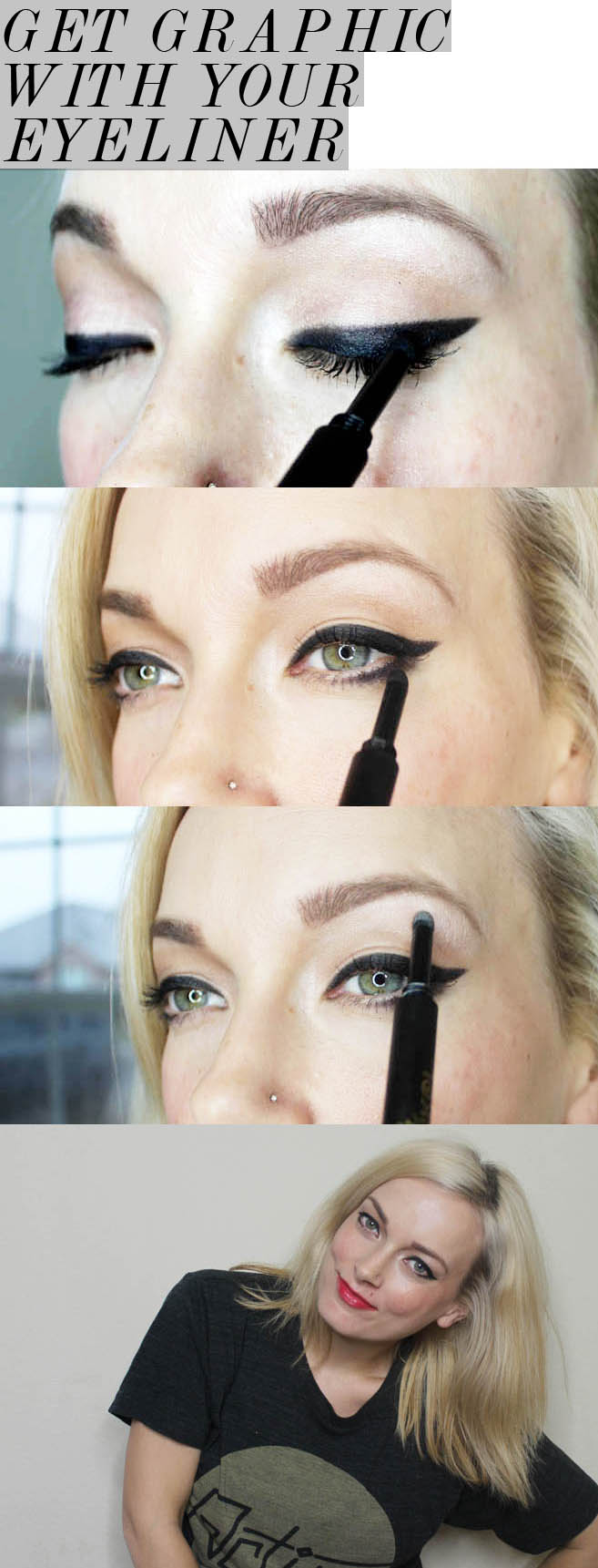 how to get the graphic eyeliner trend