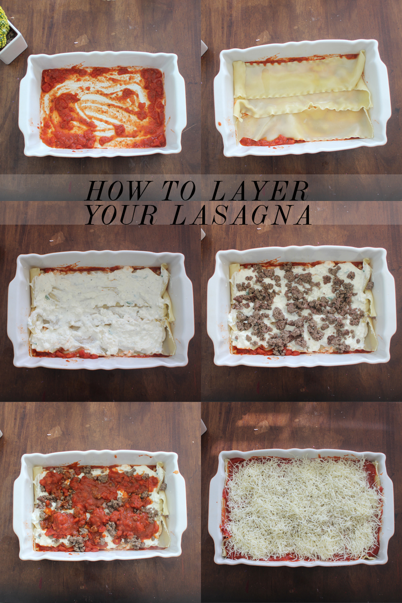 layering your lasagna