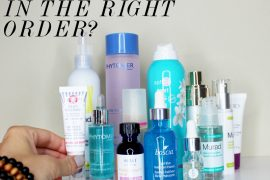 what order to apply skincare