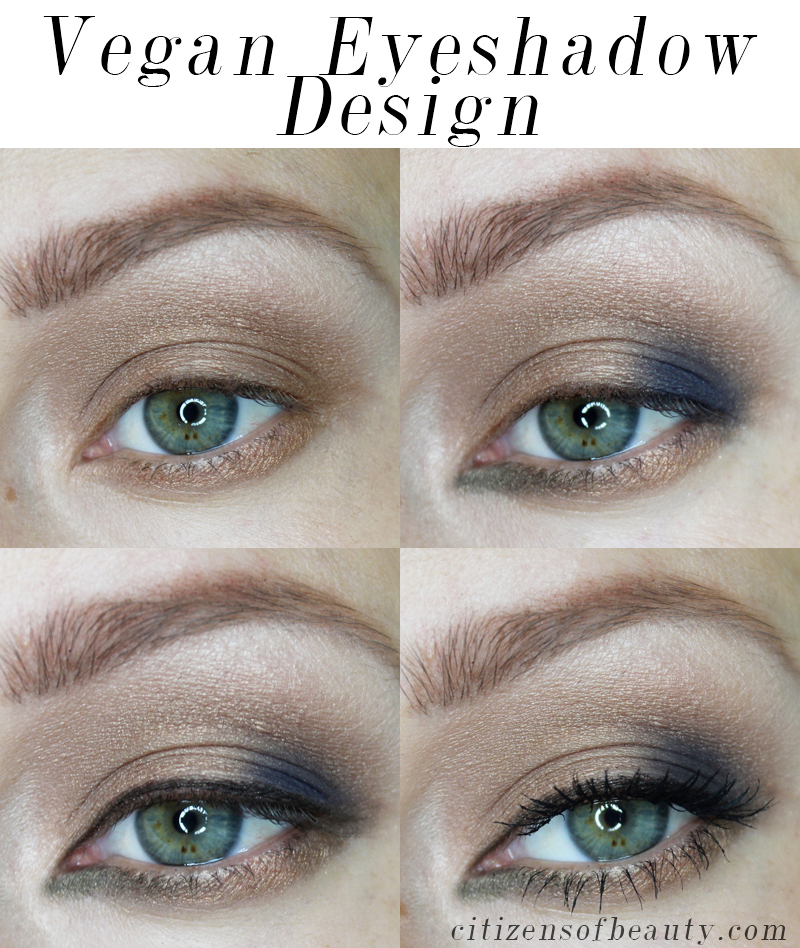 eyeshadow tutorial using vegan eyeshadow