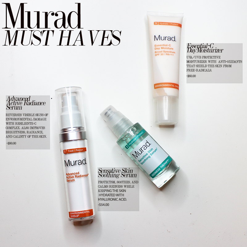 3 murad skincare must haves
