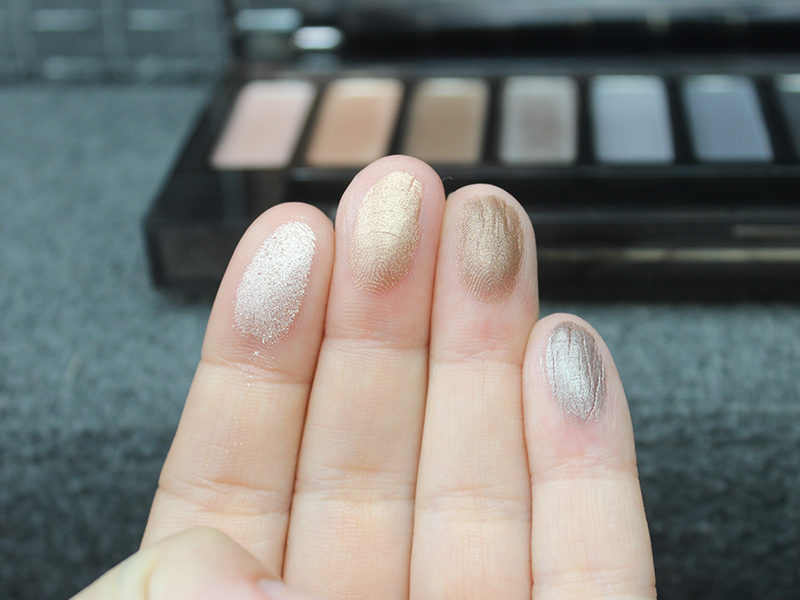 Naked Smoky Swatches High, Dirtysweet, Radar, Armor