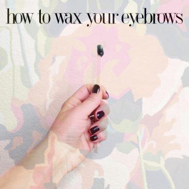 eyebrow waxing at home