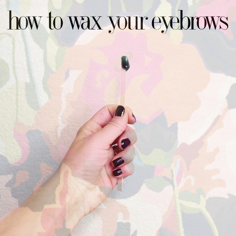 eyebrow waxing at home