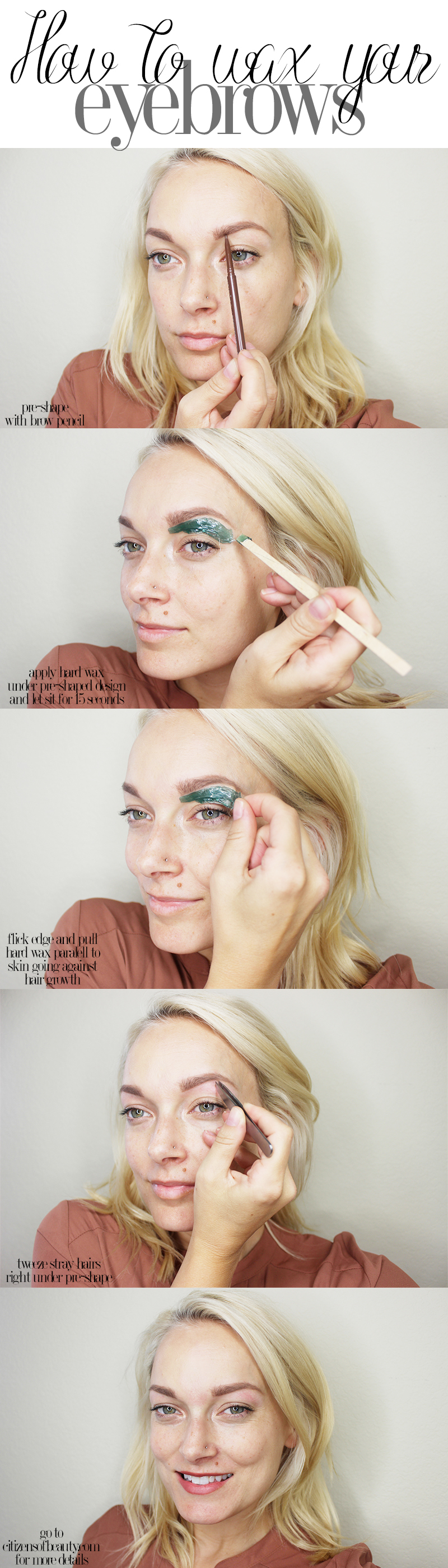how you can wax your eyebrows at home