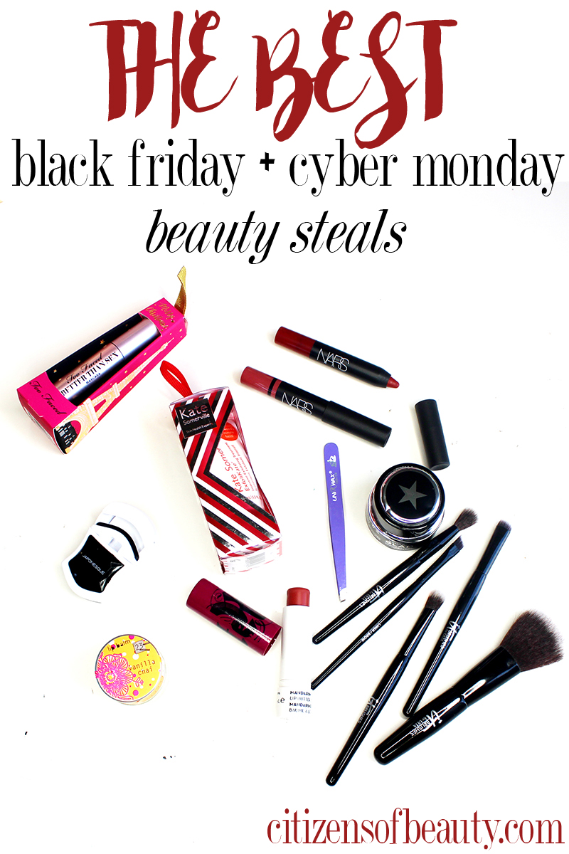 best black friday and cyber monday 2015 beauty sales, deals, and coupon codes
