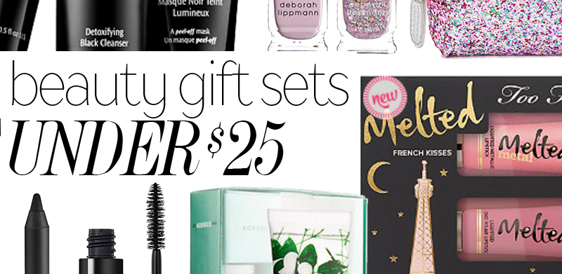 Get the best holiday gift sets under $25.00 from stores like Sephora, Ulta, Nordstrom and more. Get value sets from Too Faced, Bosica, and  Beautyblender