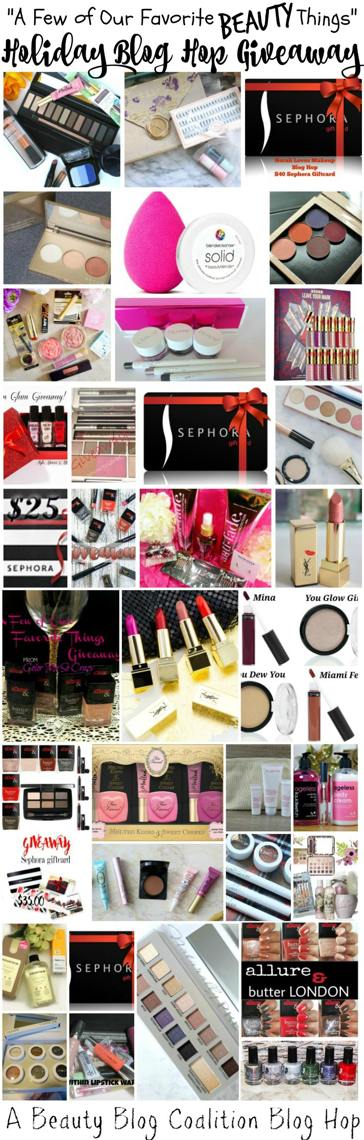 Enter to win a huge beauty giveaway with tons of your favorite beauty products!