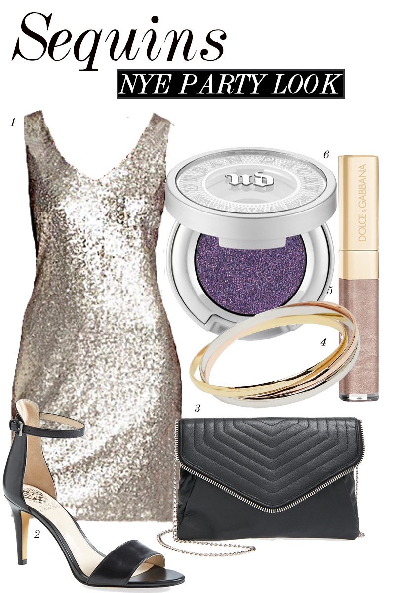 Sequin dress idea for NYE Party look