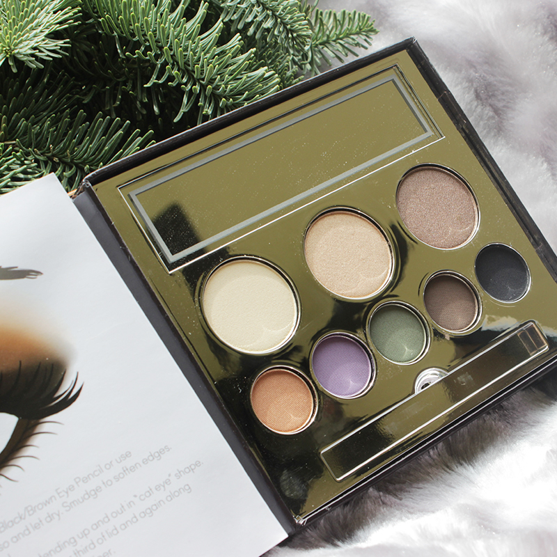 Try this stunning holiday 2015 smoky eye makeup look using the Jane Iredale in the Blink of a Smoky Eye makeup palette