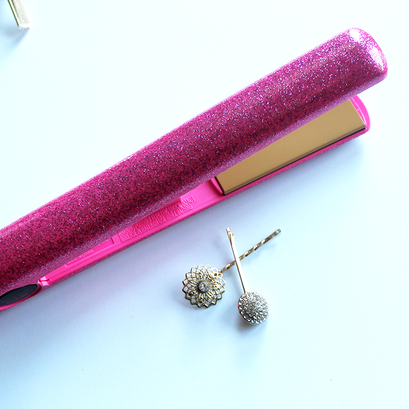 chi flat iron and an easy NYE party hairstyle in 5 minutes